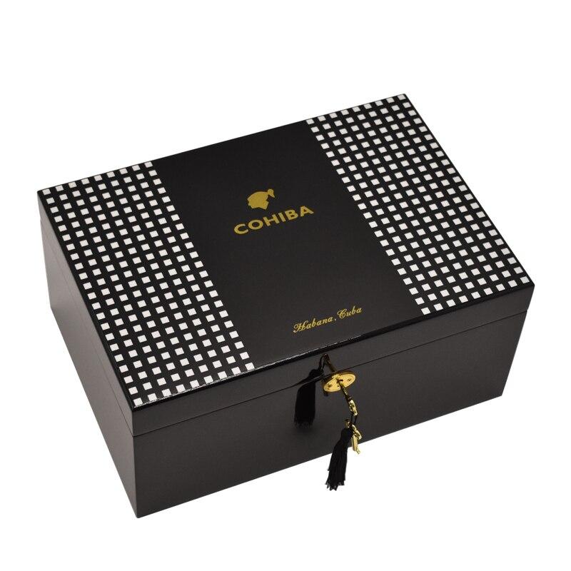Cohiba Марка кедра лоток 100 держатели хьюмидор высокого класса двойной Слои портсигар большой Ёмкость сигары влаги коробка для алкоголя
