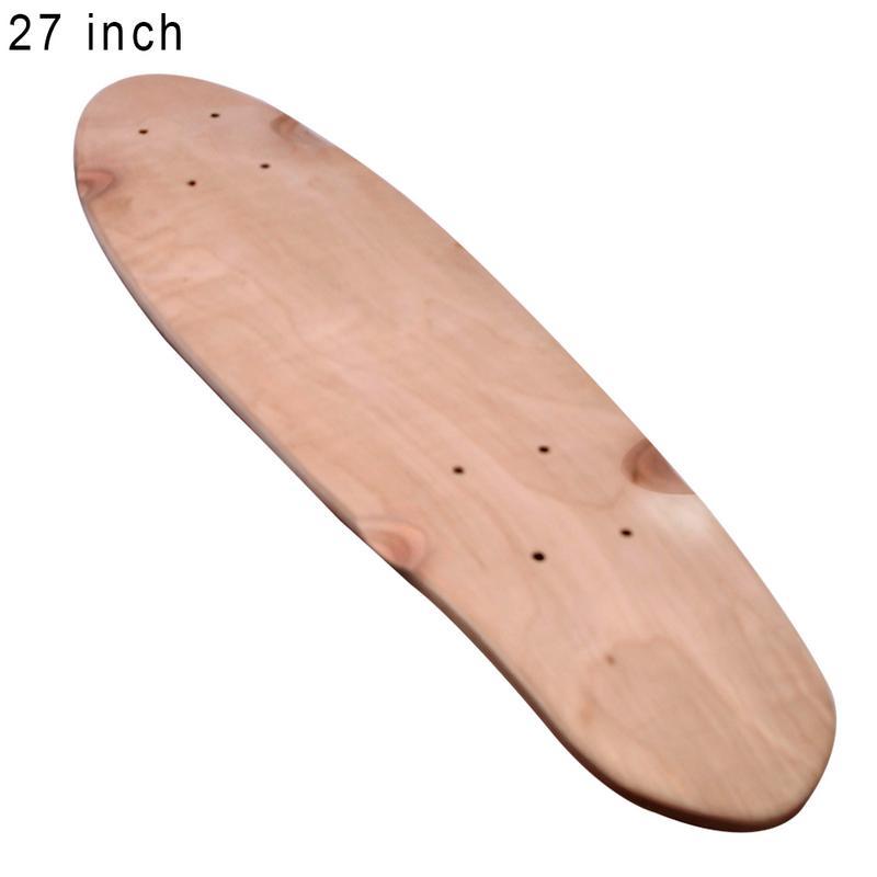 2018 a la moda 24 pulgadas/27 pulgadas Maple Deck Fish Skateboard Deck Single Rocker Skateboard profesional siete capas Deck
