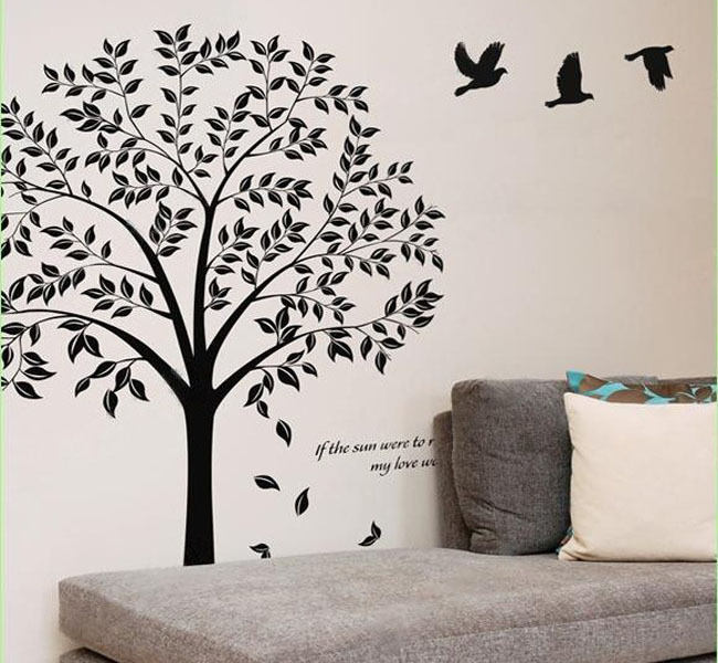 vinilos paredes new dormitorio etiqueta de la pared decoracin romntica decoracin pegatinas bodhi tree calcomanas