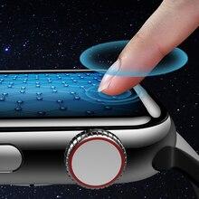цены на Glass Screen protector for apple watch 4 3 iWatch band 42mm 44mm 38mm 40mm HD waterproof Tempered glass Film Watch Accessories  в интернет-магазинах