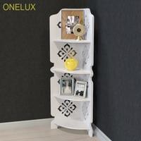 ONELUX 4 Tier Clear Acrylic Corner Shelf 31W 22D 80H CM