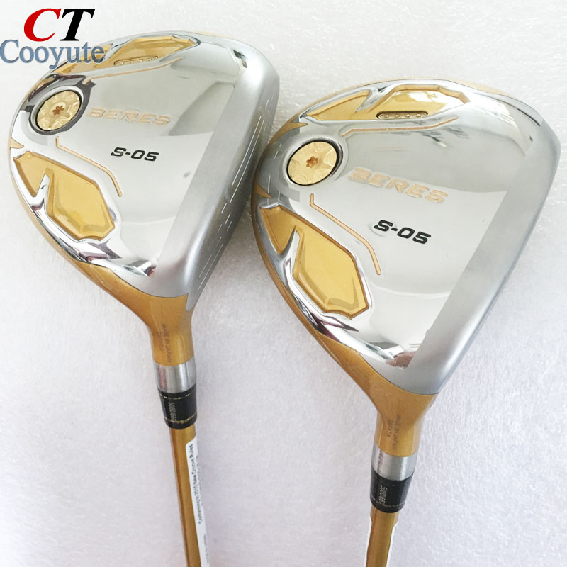 купить Cooyute New mens Golf clubs HONMA S-05 4Star Golf fairway wood 3/15 5/18 loft Clubs Golf Graphite shaft clubs set Free shipping по цене 6459.76 рублей