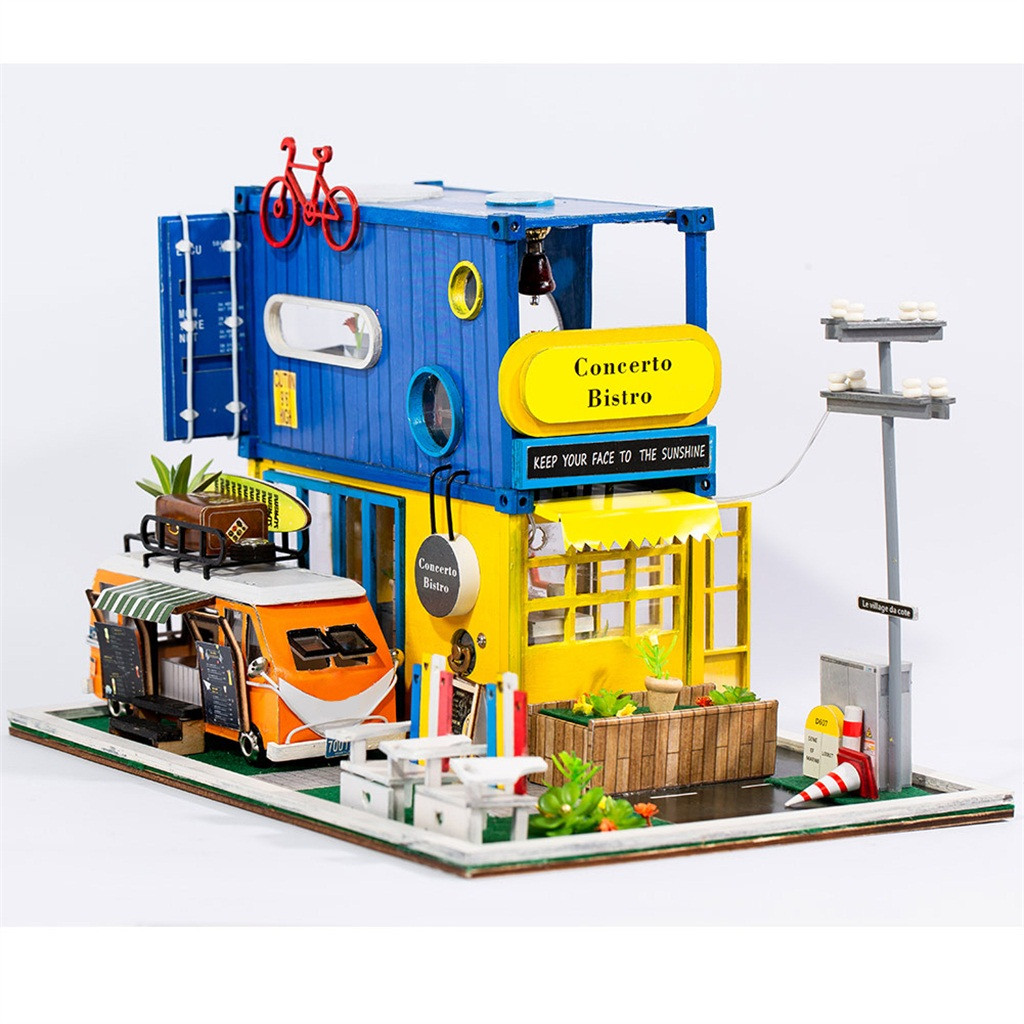Hello Summer fun Dolls Unisex DIY Miniature Dollhouse Kit Time Apartment DIY Dollhouse Kit z7(China)