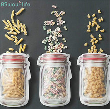Creative Self-Sealed Food Bag Biscuit Packing Bags Confectionery Nuts Storage Snacks Valve Preservation