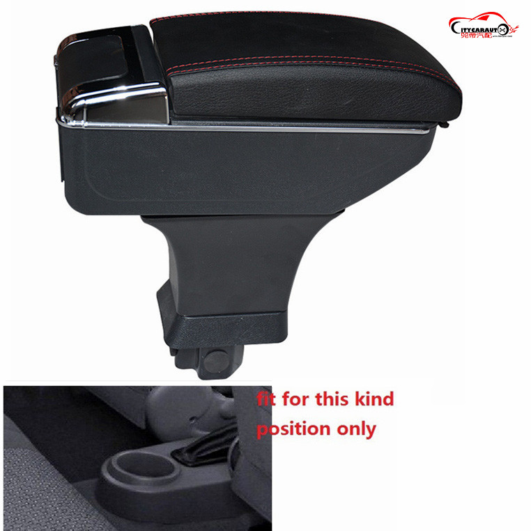 CITYCARAUTO central armrest BIG SPACE+LUXURY+7 USB armrest Storage box with cup holder LED USB FIT FOR CHEVROLET AVEO LOVA CAR