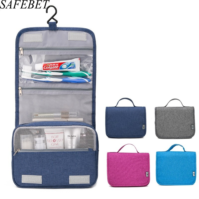 Safebet marca mulheres homens grande saco de maquiagem à prova dwaterproof água viagem beleza cosméticos saco organizador caso necessáries compõem saco de higiene pessoal