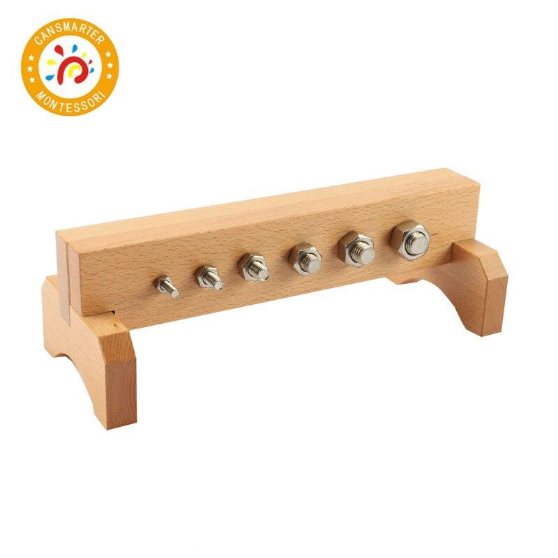 Montessori enfants jouet écrous et boulons de haute qualité pour l'éducation de la petite enfance formation préscolaire apprentissage