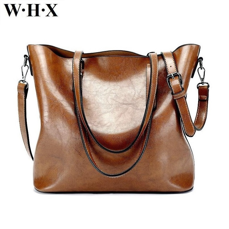 WHX New Retro Style Big Size For Women Purse PU Leather Handbag Tote Messenger Bag Female Diaper Totes Crossbody Shoulder Bags hot spanish vintage style pu leather tote women bag new purse and handbag retro female shoulder bags clutch bolsa feminina canta