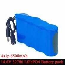 14.6 فولت 10 فولت 32700 LiFePO4 بطارية حزمة 6500 مللي أمبير تفريغ الطاقة العالية 25A أقصى 35A لبطاريات الكنس الحفر الكهربائية
