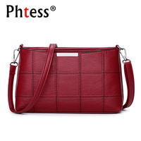 2018 Women Plaid Messenger Bags Female Crossbody Leather Shoulder Bags Ladies Sac A Main Vintage Designer