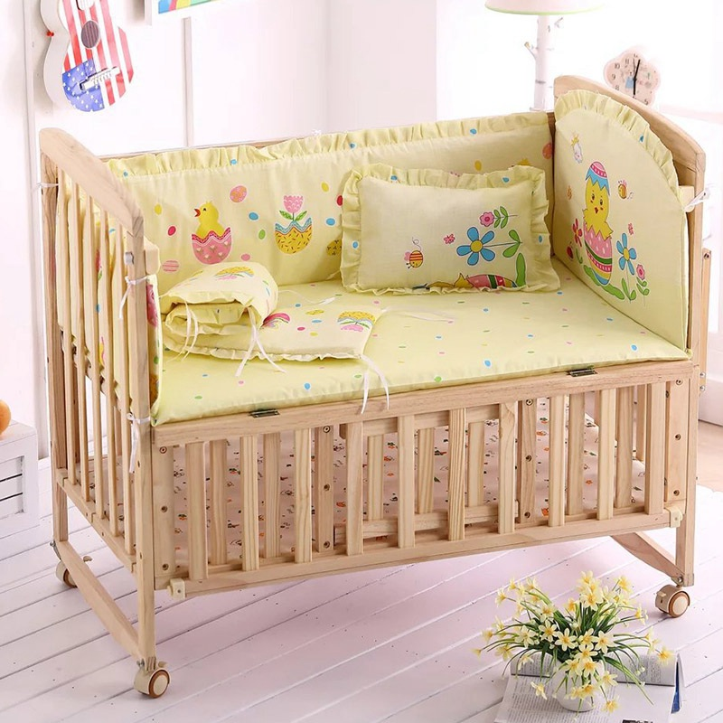 New Bedding Sets Mattresses Cartoon Baby Bed Rest Comfortable Pillow Backrest Bumper 3 Colors