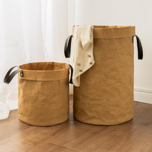 Laundry Basket 3 Size Tyvek Eco-friendly Tear Resistance Foldable Basket For Storage Toy Dirty Clothes Laundry Bag