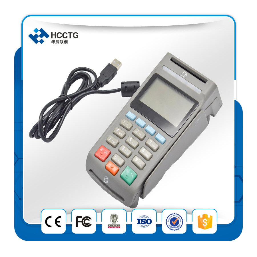 HCCTG Having two different interface USB/RS232 foroptional ATM Encryption Pin Pad Payment Machine With MSR Z90PD for selling programmable usb emulator rs232 interface 15keys numeric keyboard password pin pad yd531 with lcd support epos system