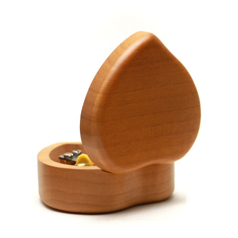 Maple solid wood heart shape music box girlfriend lover birthday gift Christmas new year wooden creative decompresses HEBFG15 Islamabad