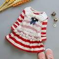 2017 primavera bebé recién nacido ropa de marca de algodón tira de encaje dress para bebés infantiles vestidos de partido de la princesa ropa deportiva