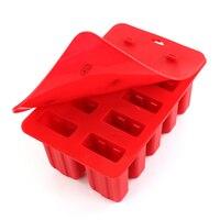 10 خلية سيليكون مكعب مع غطاء علبة reusable المجمدة اسكيمو قوالب المصاصة البوب العفن عموم أدوات المطبخ 3 اللون