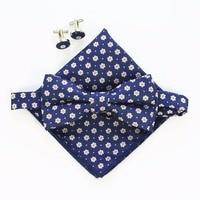 Handkerchief-Set-Bow-tie-Cufflinks-Pocket-Squares-4