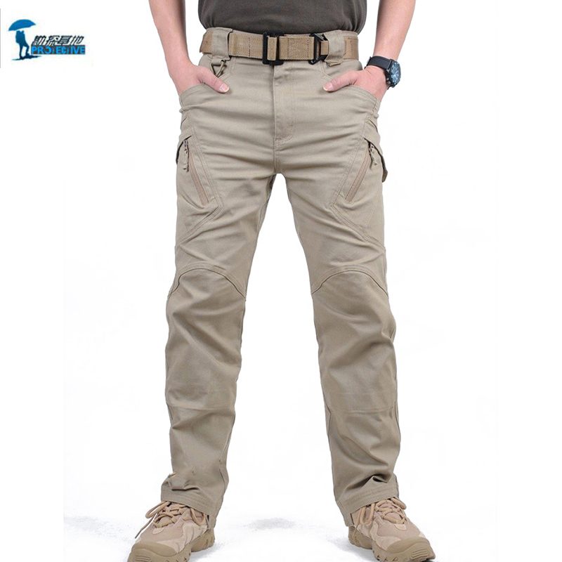 IX9 City Tactical Cargo Pants Men Combat SWAT Army Military Outdoors Pants Cotton Pockets Militar Sweatpants Man Trousers H