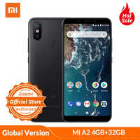 Global Version Xiaomi Mi A2 4GB RAM 32GB ROM Snapdragon 660 5.99'' Full Screen Smartphone 20MP 12MP AI Dual Camera Android One