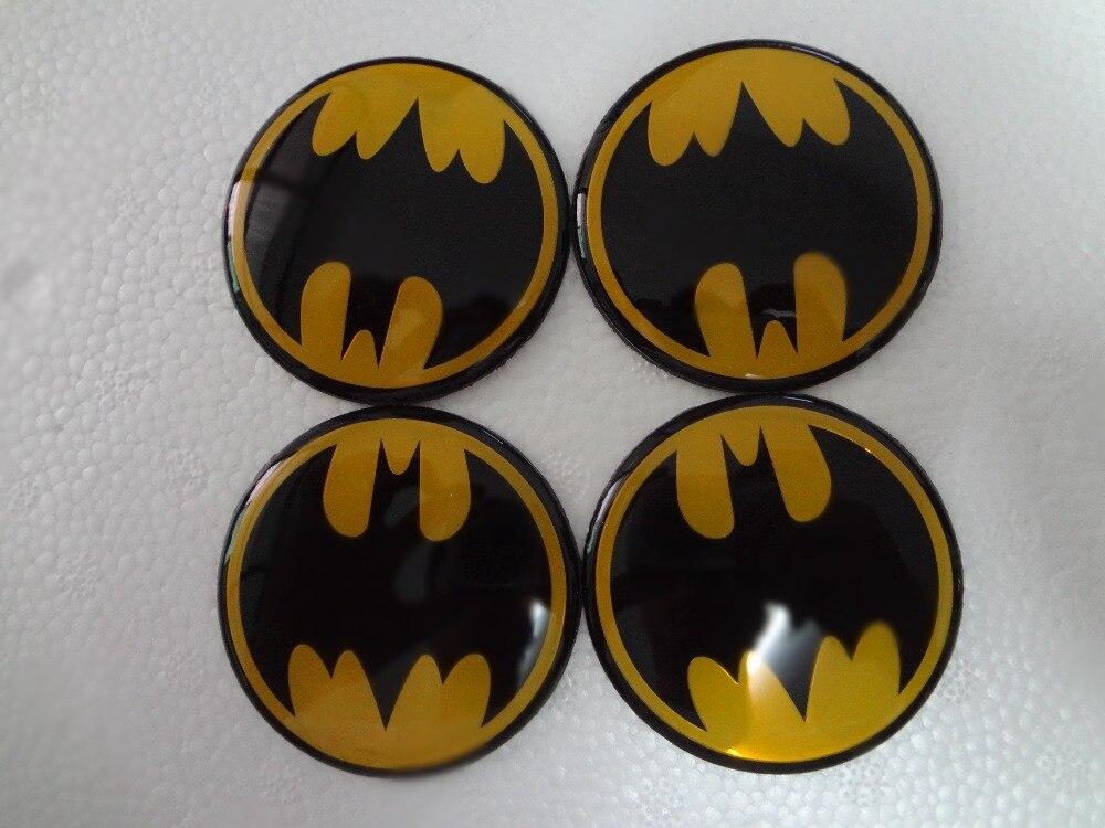 4pcs 60mm Wheel Center Caps Cover hubcap stickers for FORD FOCUS 2 focus 3 Mondeo ST bat pattern Badge emblem