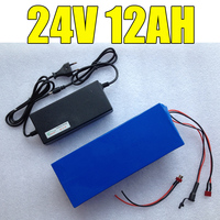 24v 12ah lithium ion battery 24 v 12ah 15A BMS 250w 24v 350w battery pack for wheelchair motor kit electric power +2A charger