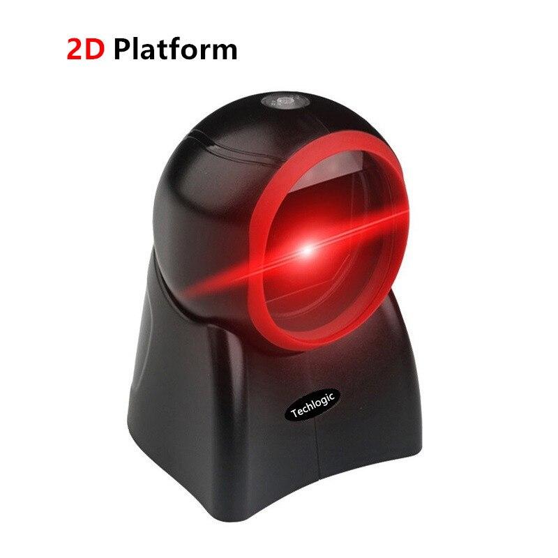 Techlogic 2D plate-forme de Scanner de présentation lecteur de codes à barres omnidirectionnel lecteur de codes à barres de supermarché
