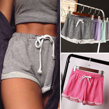 Wome s Summer Casual Loose Drawstring Wide Leg Shorts Polyester Terry Shorts Feminino Home Comfy Woolen
