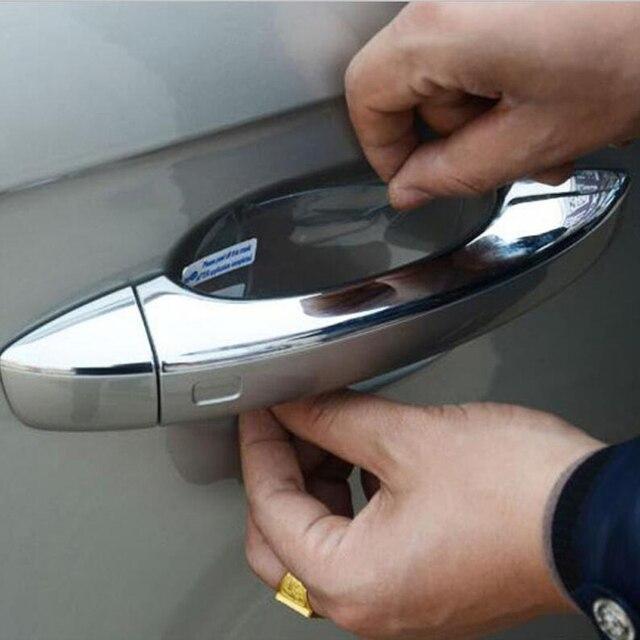 4 יח'\חבילה רכב ידית דלת מדבקות הגנה עבור טויוטה קורולה Avensis Rav4 יאריס Auris קאמרי פריוס Hilux Verso רכב סטיילינג
