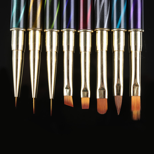 1Pc Nail Brush UV Gel Liner Painting Drawing Pen Gradient Brushes for UV Gel Building Rhinestone Handle Manicure Nail Art Tools