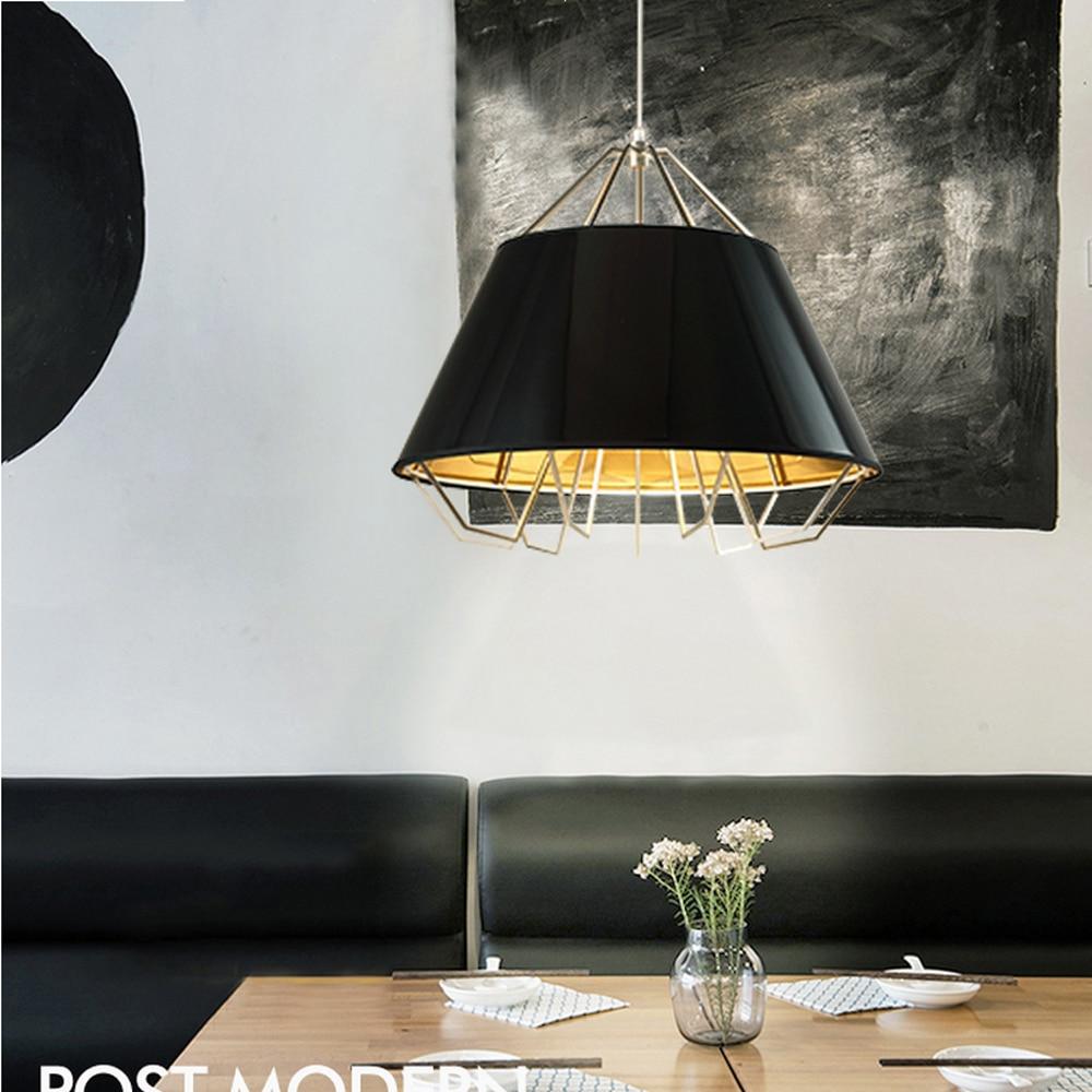 Led e27 nordic iron fabric designer led lamp led light pendant lights pendant lamp pendant light for dinning room foyer store