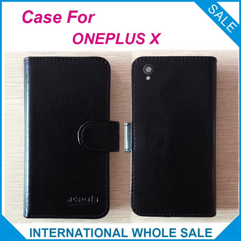 ONEPLUS X Case Factory price 6 Colors High Quality Leather Exclusive Flip Cover For ONEPLUS X tracking number
