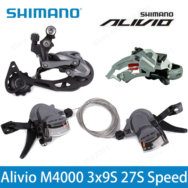 Shimano ALIVIO RD-M4000 9 Speed Rear Derailleur SL-M4000 FD-M4000 Bicycle Long Cage Derailleurs SL-M4000 3s*9s 27s MTB Bike мышь speed link kudos z 9 red sl 6391 rd 01