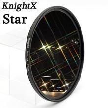 Звездный фильтр KnightX 52 мм 58 мм 67 мм 4 6 8 точечный провод для Canon Nikon d3200 d5200 1200d 600d 100d t5i d5500750d t5 a57 объектив DSLR