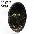 KnightX Star Filter 52MM 58MM 67MM 4 6 8 Point Line for Canon Nikon d3200 d5200 1200d 600d 100d t5i d5500750d t5 a57 lens DSLR