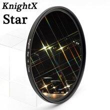 KnightX filtr gwiezdny 52MM 58MM 67MM 4 6 8 punkt linii dla Canon Nikon d3200 d5200 1200d 600d 100d t5i d5500750d t5 a57 obiektyw DSLR