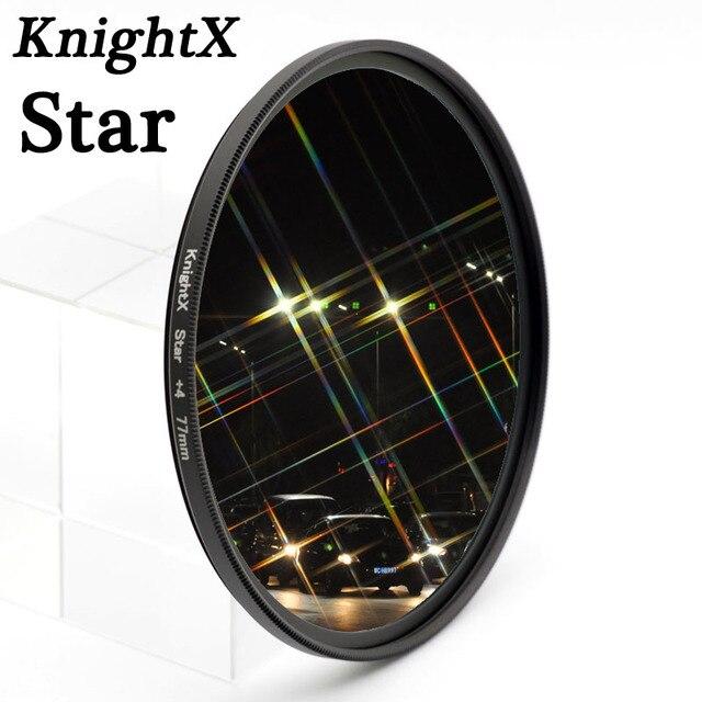 KnightX filtro de estrella de 52MM, 58MM, 67MM, 4, 6 y 8 puntos de línea para Canon, Nikon d3200, d5200, 1200d, 600d, 100d, t5i, d5500750d, t5, a57, lente DSLR