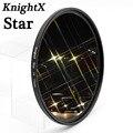 KnightX filtro estrella 52mm 58mm 67mm 4 6 8 LÍNEA DE para Canon Nikon d3200 d5200 1200d 600d 100d t5i d5500750d t5 a57 lente DSLR