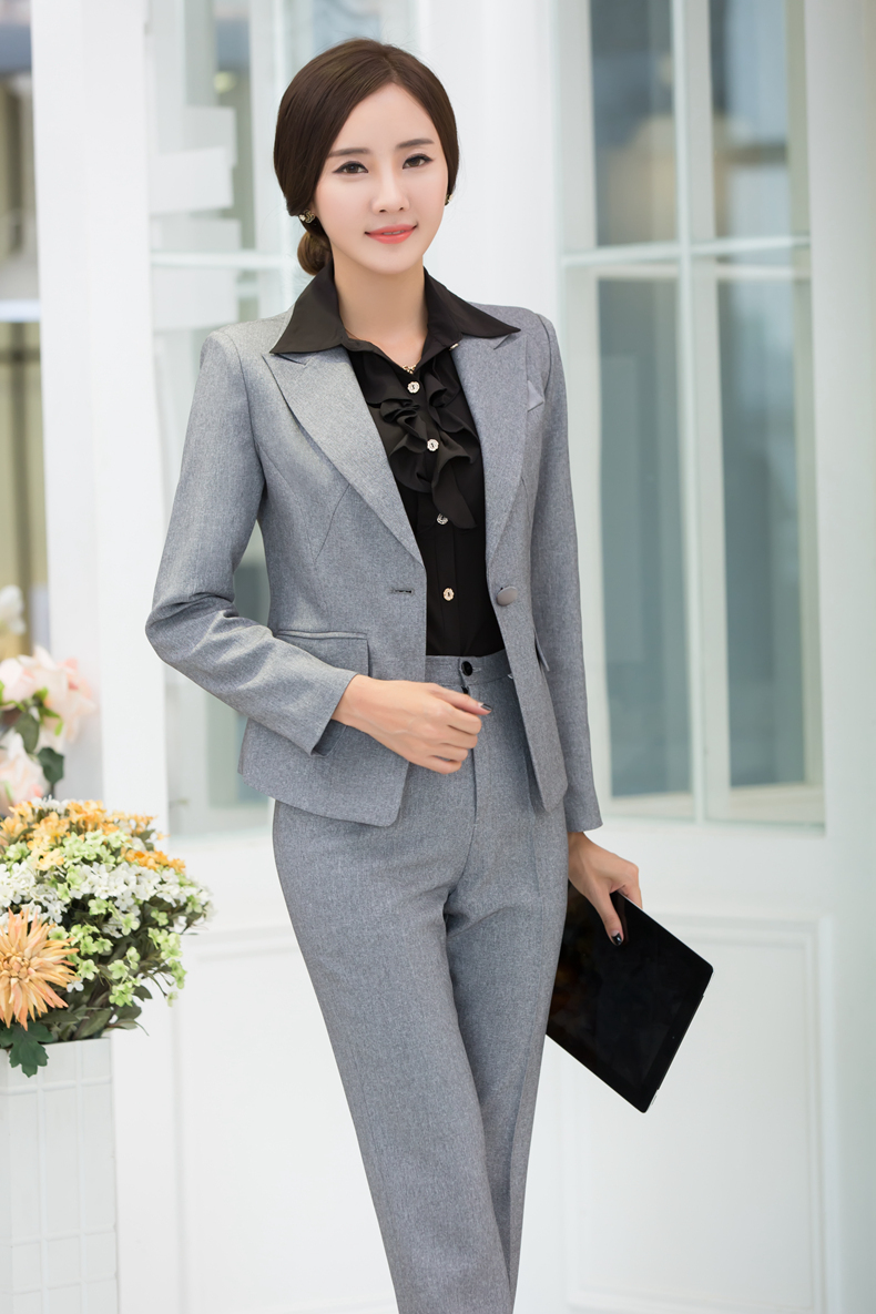 Autumn Winter Business Attire For Women Plus Size Women S Fashion Lady Suits Ol Long Sleeve Suit Business Attire Business Attire Womenbusiness Lingerie Aliexpress