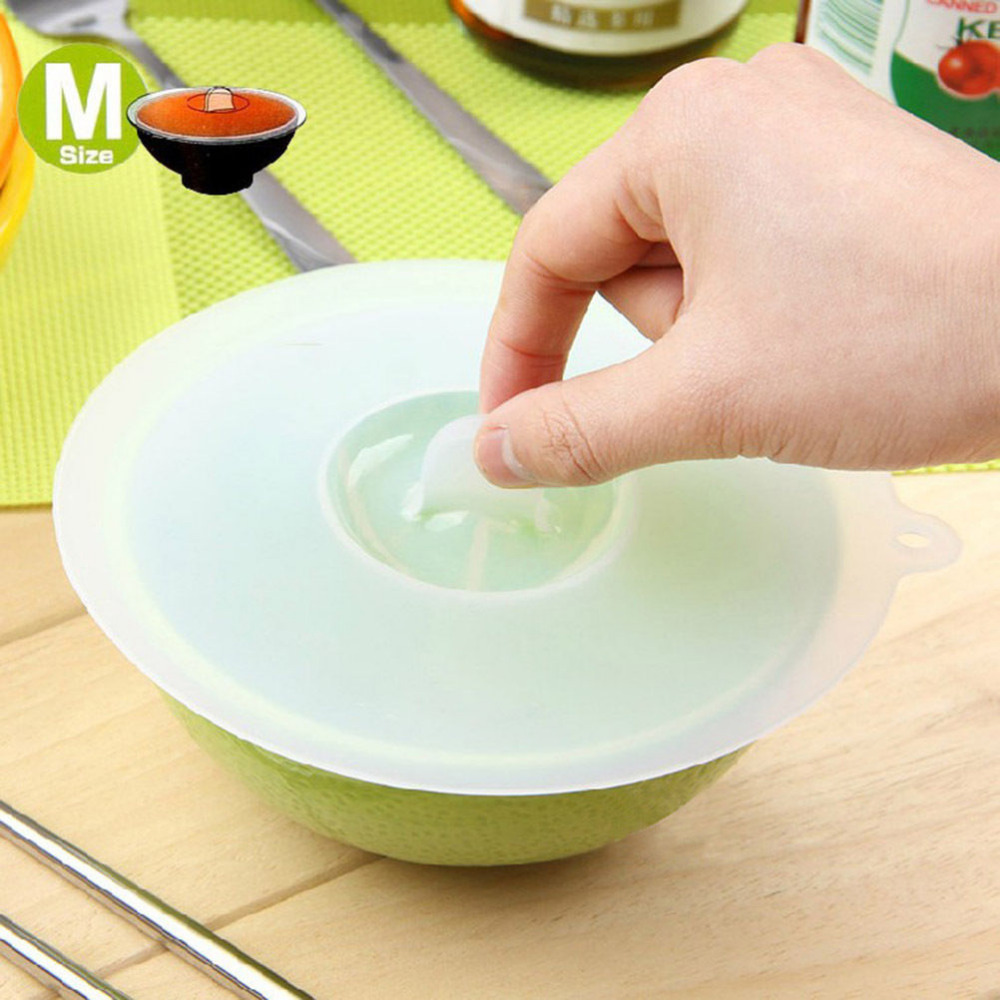 New 3 Size Silicone Bowl Pan Cup Covers Basin Microwave Lids Cooking Tools Lid Boil Cookware Cover