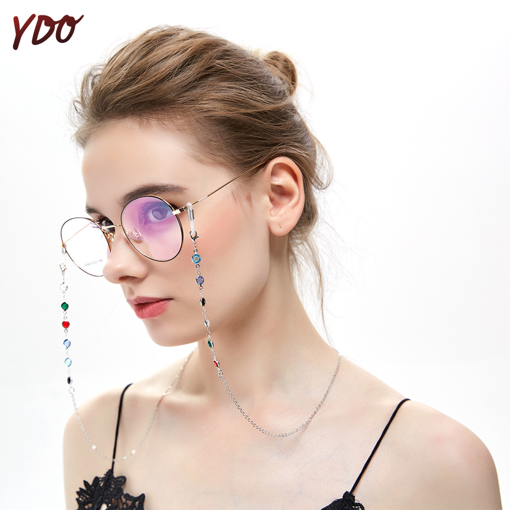 YDO Fashion Womens Gold Glasses Chain Spectacle Cord Sunglasses Chain Holder Neck Strap Rope For Reading