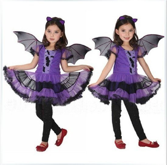 childrens costumes dress up halloween costume for girl children dance costumes for kids accessories bat carrnival - Halloween Girl Dress Up