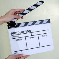 새로운 핫 슬레이트 높은 다섯 텔레비전 필름 좋은 품질 블랙 바 아크릴 높은 bangzi 필름 슬레이트 조절 볼트