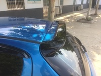 Osmrk unpainted ABS tail wing roof visor rear spoiler lip for peugeot 206 207 2009 2013, original version