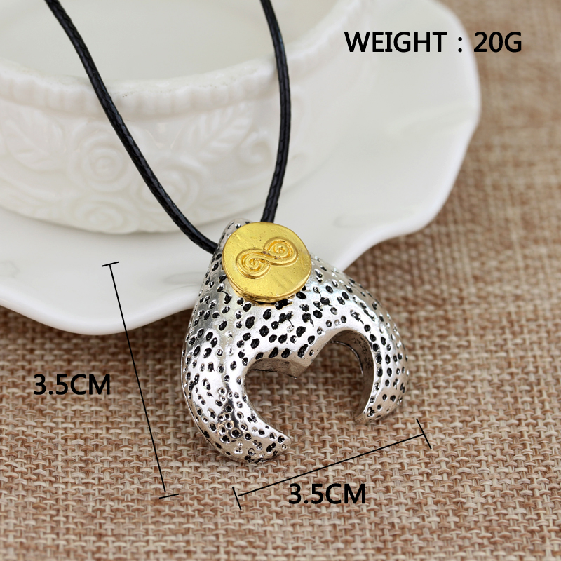 maxi necklace Percy Jackson and The Labyrinth of The War fashion silver plated Leather jewelry Super Quality Pendant Necklaces