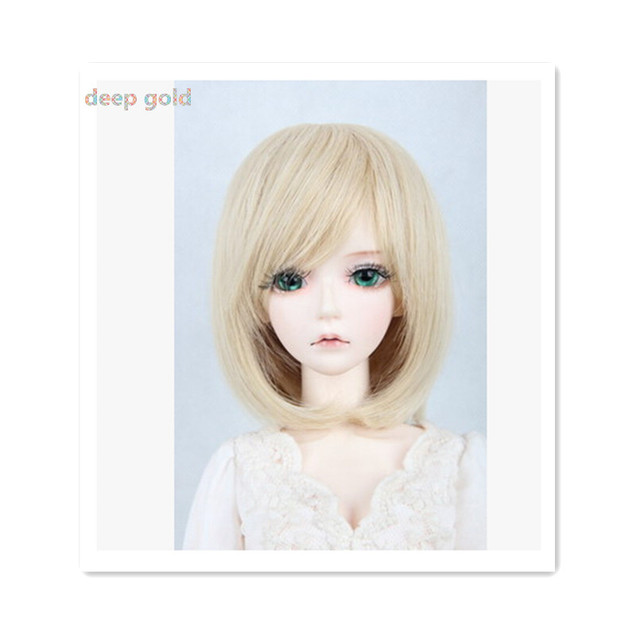 Beautiful Short Hair Doll Wig for 1/3 BJD Doll,New Style High-temperature Wire Fashion Doll Hair