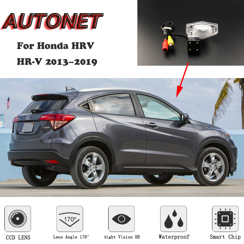 AUTONET HD Night Vision Backup Rear View Camera For Honda HRV HR-V For Honda Vezel 2013~2019 CCD/license Plate Camera