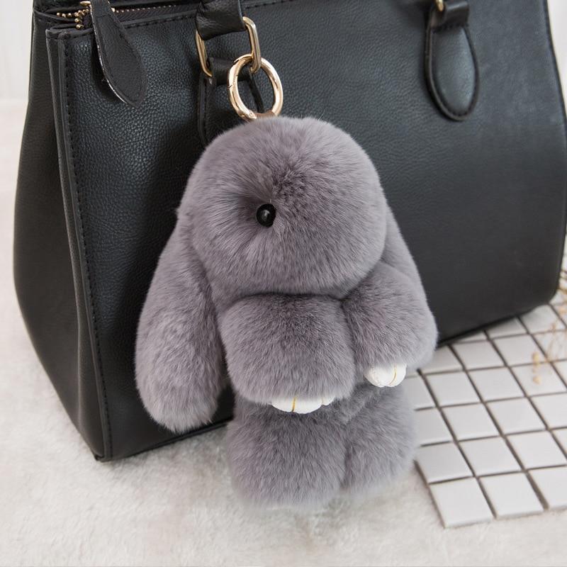Keychain Tote Car-Charm-Pendant Rabbit-Fur Bunny 14cm Toy Fashion