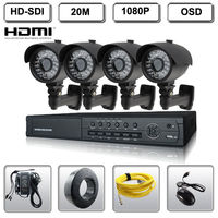 4 Channel HD SDI DVR Security System w/4 HD SDI 2MP IR Bullet 4.2mm 1080P Camera