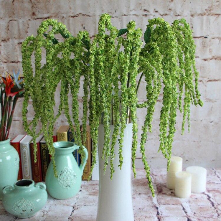 Flone 8 ramo artificial plantas verdes falso