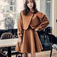 DoreenBow New Autumn Winter Dress HIGH QUALITY Separated Top A Line Dress Two Pieces Party Club